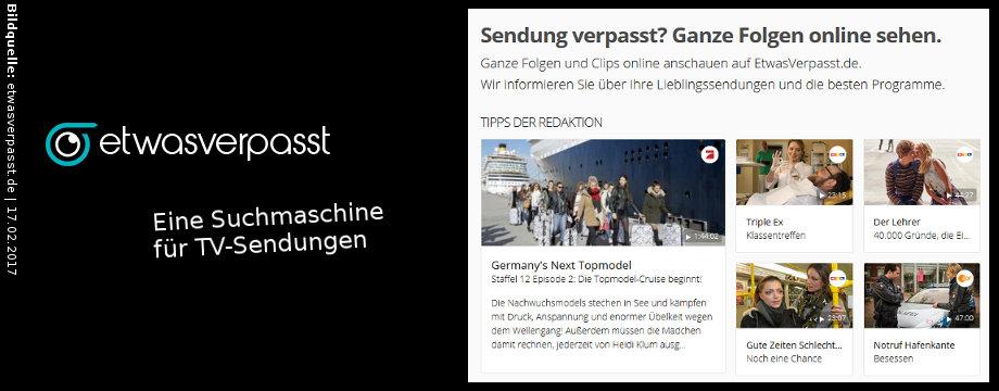 etwasverpasst.de - TV-Suchmaschine im Internet