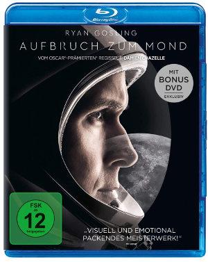 Aufbruch zum Mond - Blu-Ray Cover   mit Ryan Gosling